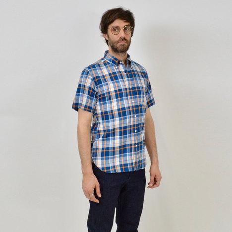 【SONTAKU】マドラスチェック 半袖BDシャツ