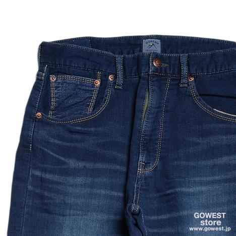 【SALE50%OFF★GOHEMP】BASIC 5PKT PANTS/SWEAT LIKE DENIM USED WASH