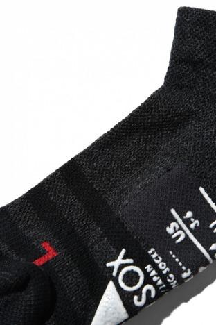 【ANDSOX】SUPPORT PILE SHORT -CHARCOAL BLACK STRIPE-