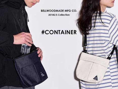 【BELLWOODMADE MFG CO】  CONTAINER 2TONE CORDURA -GRAY-