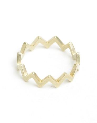 【Aquvii】zigzag ring(GOLD)