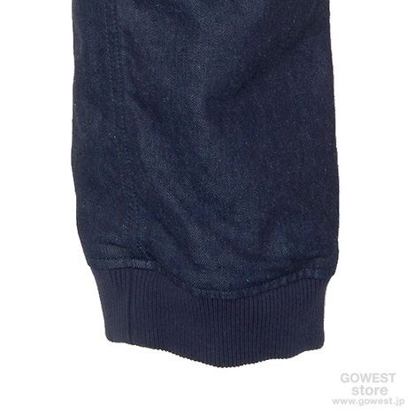【GO HEMP】SLIM RIB PANTS/10oz H/C STRETCH DENIM ONE WASH