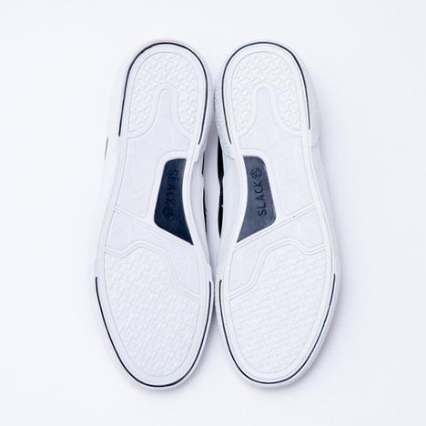 【SLACK FOOTWEAR】CALMER LX SLIP-ON (BLACK/WHITE)
