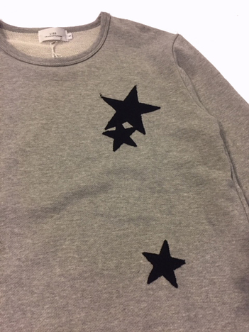 【LiSS】 STAR Patchwork Sweat C&S