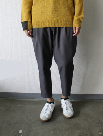 【LiSS】 STRETCH TWILL TAPERED CROPPED PANTS