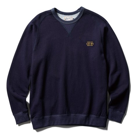 【CLUCT】INDIGO CREW NECK SWEAT