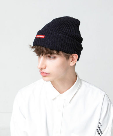 【SAY】WAPPEN KNIT BEANIE (NAVY)