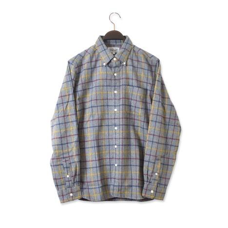 【SONTAKU】30/2シャギーペンチェックBDシャツ
