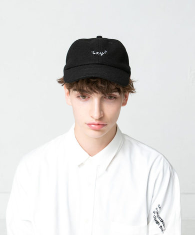 【SALE30%OFF★SAY】EMBROIDERY WOOL CAP
