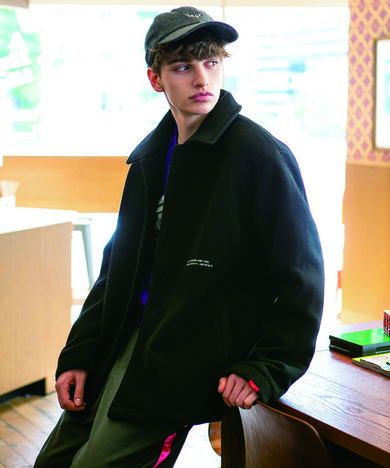 【SAY】EMBROIDERY WOOL CAP