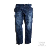 【GO HEMP】VENDOR TAPERED SLIM PANTS/10oz H/C DENIM STRETCH/USED WASH