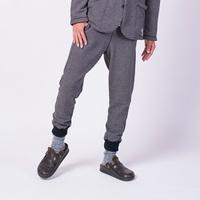 【GO HEMP】RELAX SWEAT PANTS / TWEED HERRINGBONE SWEAT