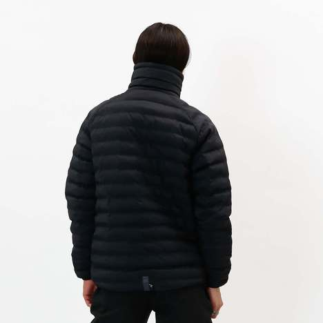 【CHARI&CO】HI NECK PUFF JKT(BLACK)