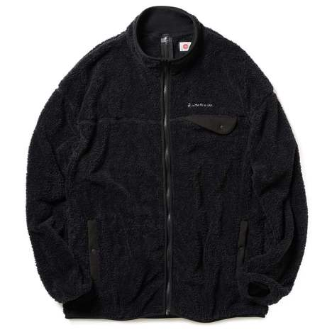 【CHARI&CO】FLEECE BOA CARDIGAN(BLACK)