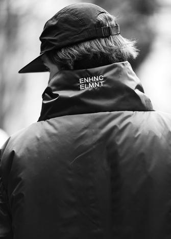 【ENHANCE ELEMENT】ポリエステルタフタ中綿ビッグベスト