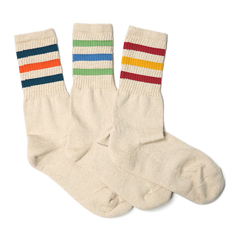 【GO HEMP】LINE CREW SOCKS /×ANONYMOUSISM