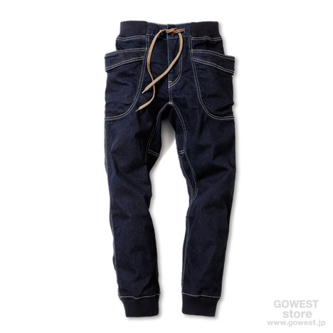 【GO HEMP】VENDOR RIB PANTS/ H/C STRECH DENIM