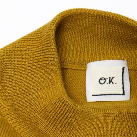 【SALE30%OFF★O.K.】CUPBOARD KNIT(MUSTARD)