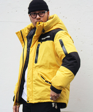 【SCHOTT】2TONE DOWN PARKA / YELLOW