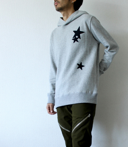 【LiSS】 STAR PATCHWORK PULLOVER PARKA