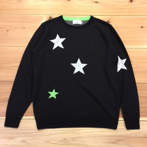 【LiSS】 STAR PATTERN CREWNECK KNIT