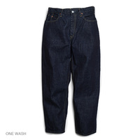 【GOWEST】LOOSE TAPERED PANTS/14oz SELVAGE DENIM