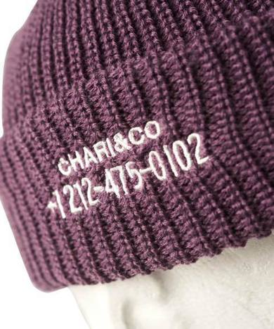 【CHARI&CO】PHONE NUMBER WATCH CAP
