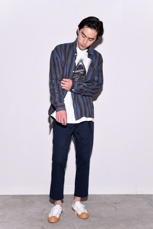 【BELLWOODMADE MFG CO】AWESOME PANTS NARROW CHINOS -NAVY-