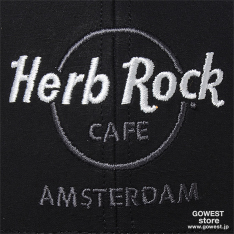 "【GO HEMP】 ""Herb Rock CAFE""MESH CAP"