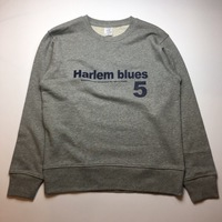 【NO TARGET ORIGINAL/SPECIAL PRICE】HARLEM BLUES 5 LOGO SWEAT