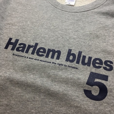 【HARLEM BLUES/SPECIAL PRICE】HARLEM BLUES 5 LOGO SWEAT