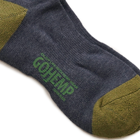 【GO HEMP】PATTERN PILE QUATER SOCKS / ×ANONYMOUSISM