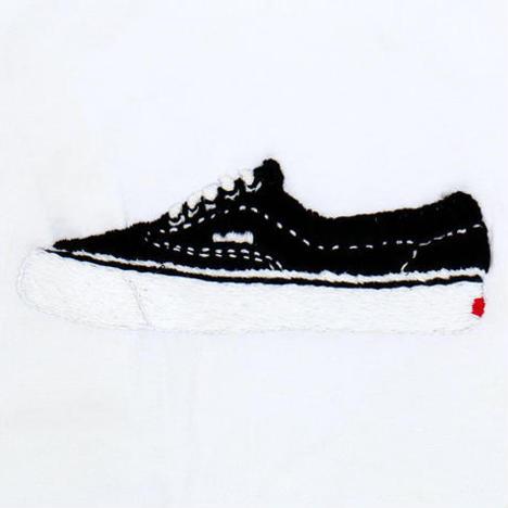 【O.K.】ERA BLACK TEE(手刺繍)