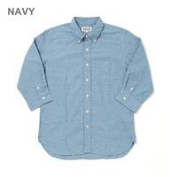 【SONTAKU】コットンヘンプダンガリー 7分袖シャツ