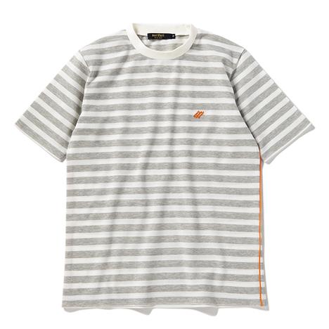 【narifuri】ドライ鹿の子ボーダーTシャツ