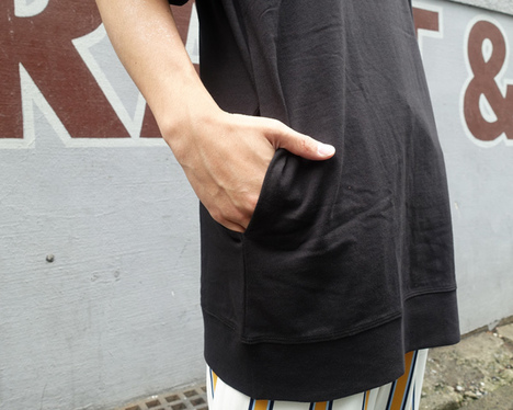 【ALDIES】Rib Big T(BLACK)