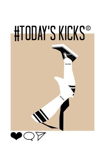【TODAY'S KICKS SOCKS】2トーンソックス / WHITE×RED