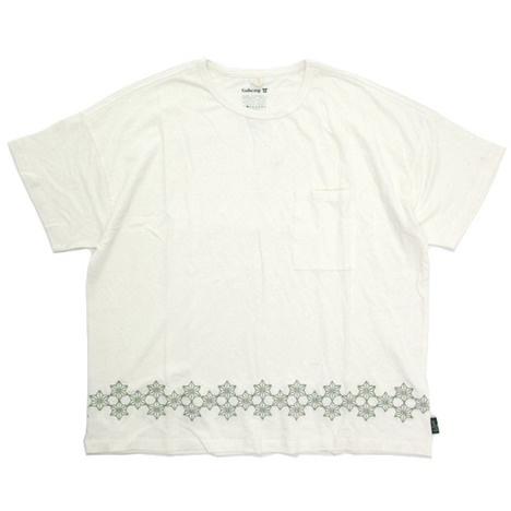 【GO HEMP】 WIDE PK TEE / ASAGARA EMBROIDERY