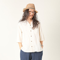 【GO HEMP】 SHITAMACHI SHIRTS/HEMP COTTON GAUZE
