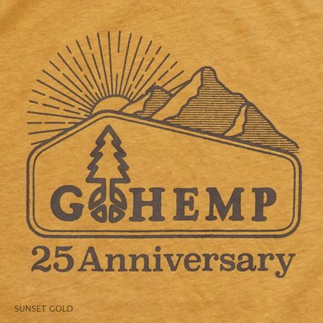 """【GO HEMP】""""25th LOGO Mt."""" BASIC S/SL TEE"""