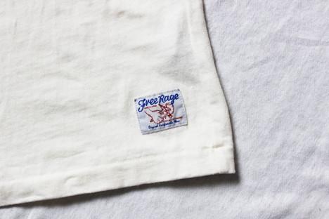 【FREE RAGE】LOGOラグラン七分袖TEE
