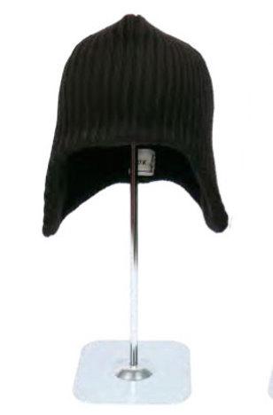 【O.K.】EARMUFF PLAIN KNIT CAP
