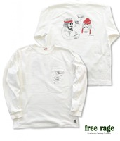 "【FREE RAGE】""GIFT"" リサイクルコットンロンTee"