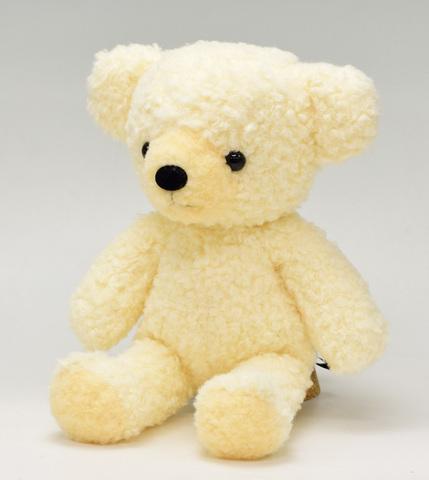 クマのフカフカMクリーム29cm(日本製)