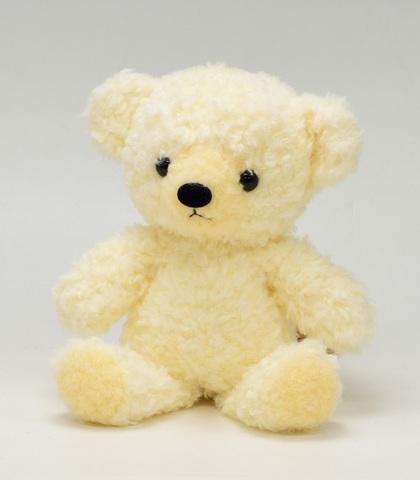 クマのフカフカSクリーム21cm(日本製)