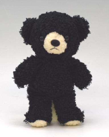 クマのフカフカSブラック21cm(日本製)