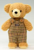クマのフカフカ・ブラウンMグリーンサロペット29cm(日本製)