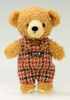 クマのフカフカ・ブラウンSオレンジサロペット21cm(日本製)