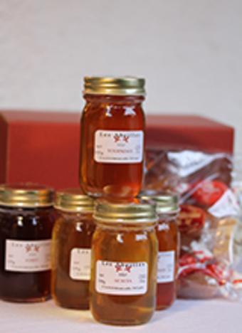 ハチミツ5瓶とフランス伝統菓子