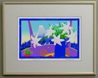 版画DK27 窓辺のゆり 吉岡浩太郎